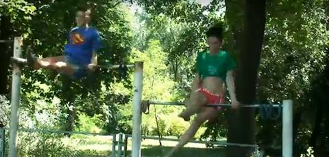 Awesome Exercise In The Park