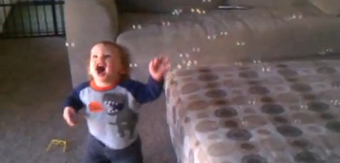 Baby Sees Bubbles For His First Time