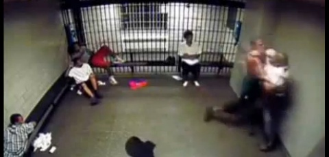 Brutal Jail Fight Knockout