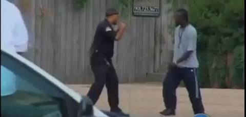 Thug Picks Fight With MMA Fighting Security Guard