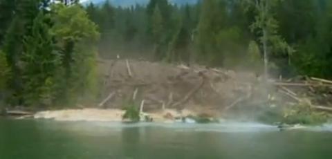 Mudslide Caught On Camera