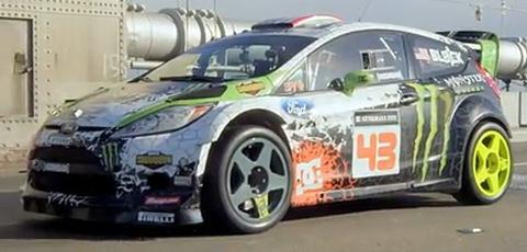 Crazy Race Car On Urban Playground