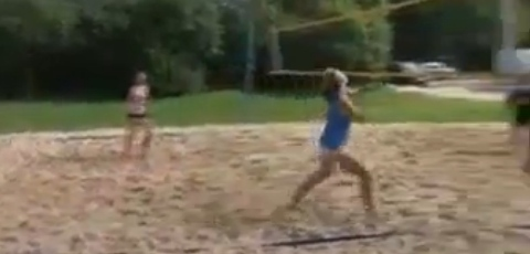 Volleyball Fail: Unexpected BJ
