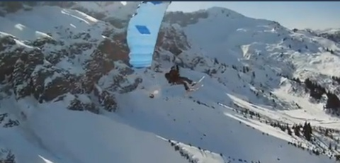 Breathtaking Skiing Stunt