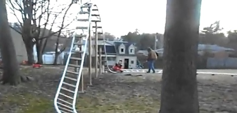 Dad Builds Backyard Rollercoaster