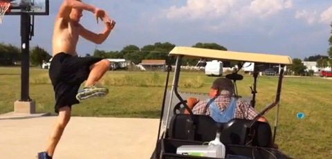 High Jump Over A Golf Cart Fail