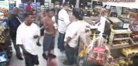 Two Guys Get Beat Down In Convenience Store