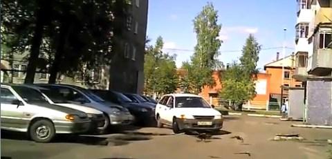Woman Driver Parking Fail