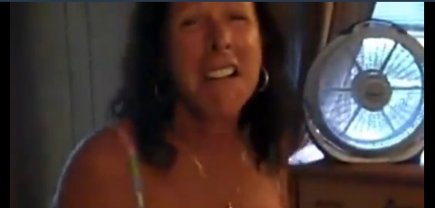 Crazy Woman Landlord Attacks Man