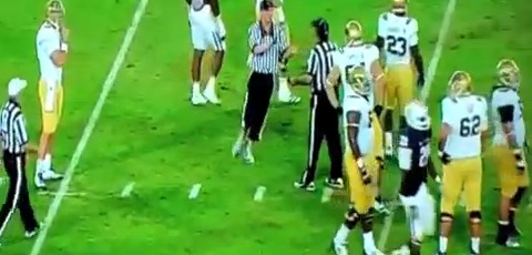 Fan Dressed As Referee Stops Football Game