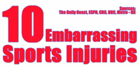 Ten Embarrassing Sport Injuries